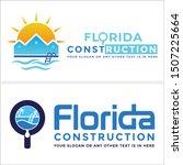 florida construction logo with... | Shutterstock .eps vector #1507225664