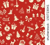 christmas seamless pattern on... | Shutterstock .eps vector #150723041