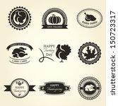 set of thanksgiving label...   Shutterstock .eps vector #150723317
