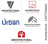 architectural design logo with... | Shutterstock .eps vector #1507234661