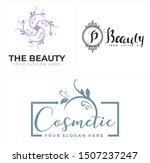 design logo with leaf dot... | Shutterstock .eps vector #1507237247