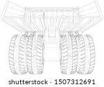 heavy duty dump truck tipper... | Shutterstock .eps vector #1507312691