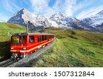 a cogwheel train travels on the ...