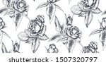 vector seamless pattern with... | Shutterstock .eps vector #1507320797