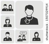 doctor icons set. vector... | Shutterstock .eps vector #1507329914