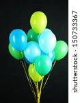 colorful balloons isolated on... | Shutterstock . vector #150733367