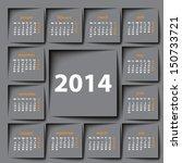Post It 2014 Calendar