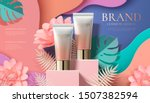 cosmetic plastic tube ads on... | Shutterstock .eps vector #1507382594