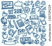 set of vector freehand drawings ... | Shutterstock .eps vector #150739229