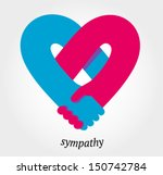 handshake sympathy  love and... | Shutterstock .eps vector #150742784
