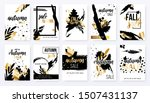 set of autumn ad posters in...   Shutterstock .eps vector #1507431137