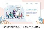 bright poster teambuilding... | Shutterstock .eps vector #1507446857