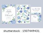 wedding floral invitation card... | Shutterstock .eps vector #1507449431