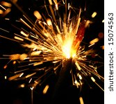 yellow sparkler | Shutterstock . vector #15074563