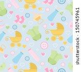 cute baby element seamless...   Shutterstock .eps vector #150745961