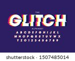 vector of stylized modern font... | Shutterstock .eps vector #1507485014