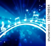 glowing background with musical ... | Shutterstock . vector #150748814