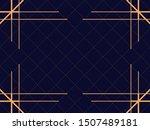 art deco frame. vintage linear... | Shutterstock .eps vector #1507489181