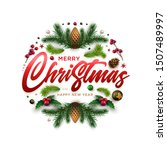 merry christnas and happy new... | Shutterstock .eps vector #1507489997