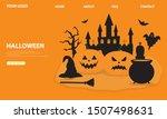 halloween landing page template....   Shutterstock .eps vector #1507498631