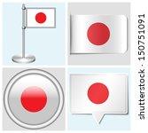japan flag   set of various...   Shutterstock .eps vector #150751091