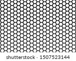black hexagon background in a... | Shutterstock .eps vector #1507523144