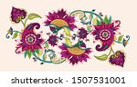 paisley. textile floral pattern ... | Shutterstock .eps vector #1507531001