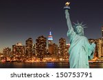 midtown manhattan skyline and... | Shutterstock . vector #150753791