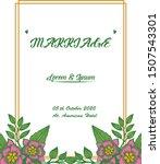handwritten marriage in various ... | Shutterstock .eps vector #1507543301