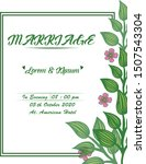 design banner marriage with... | Shutterstock .eps vector #1507543304