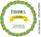 banner of thanksgiving with... | Shutterstock .eps vector #1507543394