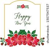 elegant pattern of red flower... | Shutterstock .eps vector #1507547537