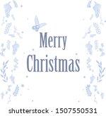 ornament decorative of blue... | Shutterstock .eps vector #1507550531