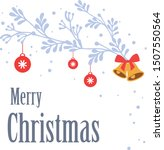 design for greeting card merry... | Shutterstock .eps vector #1507550564