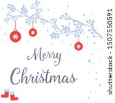 greeting card merry christmas ... | Shutterstock .eps vector #1507550591