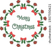 banner merry chrismas  with art ... | Shutterstock .eps vector #1507550621