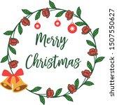banner merry chrismas  with art ... | Shutterstock .eps vector #1507550627