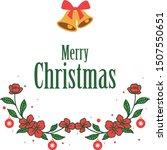 decorative border of red wreath ... | Shutterstock .eps vector #1507550651