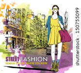 hand drawn watercolor... | Shutterstock .eps vector #150755099
