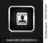 contact list icon   color dark...