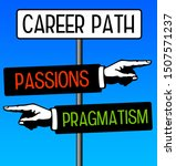 following a career path with... | Shutterstock . vector #1507571237
