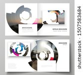 the vector layout of two covers ... | Shutterstock .eps vector #1507583684