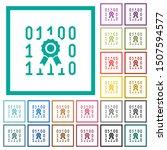 digital certificate flat color... | Shutterstock .eps vector #1507594577