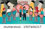 tv dating game show. cartoon... | Shutterstock .eps vector #1507606217