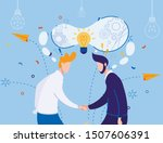 businessmen handshaking....   Shutterstock .eps vector #1507606391