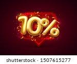 sale 10 off ballon number on... | Shutterstock .eps vector #1507615277