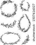 set of hand drawn wedding frames | Shutterstock .eps vector #1507616027