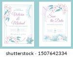 wedding invitation card design  ... | Shutterstock .eps vector #1507642334