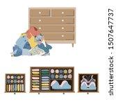 wardrobe drawer organizer.... | Shutterstock .eps vector #1507647737