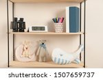 Shelves With Toys And Kids...